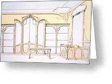 Interior Design For A Fashion Shop Greeting Card