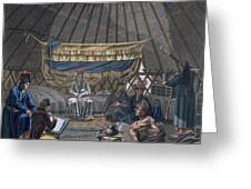 Interior Of A Kalmuk Yurt, 1812-13 Greeting Card
