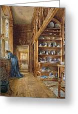 Interior Of A Panelled House Greeting Card