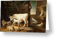 Interior Of A Stable, 1810 Greeting Card