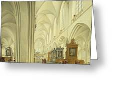 Interior Of Antwerp Cathedral, C.1668 Greeting Card