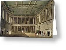 Interior Of Concert Room, From Bath Greeting Card