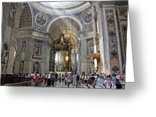 Interior Of St Peter's Dome. Vatican City. Rome. Lazio. Italy. Europe Greeting Card by Bernard Jaubert