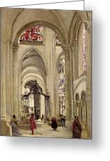 Interior Of The Cathedral Of St. Etienne, Sens Greeting Card