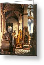 Interior Of The Dominican Church In Krakow Greeting Card