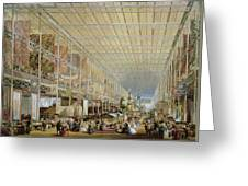 Interior Of The Great Exhibition Of All Greeting Card