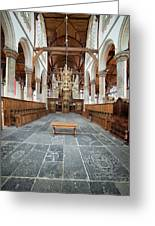 Interior Of The Oude Kerk In Amsterdam Greeting Card