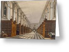 Interior Of Trinity College Library Greeting Card