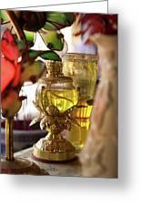Interiors Of Vihn Trang Pagoda, My Tho Greeting Card