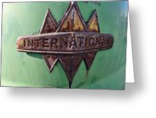 International Harvester Insignia Greeting Card