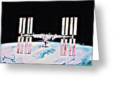 International Space Station 2011 Greeting Card