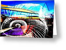 Interstate 10- Cushing St Overpass- Rectangle Remix Greeting Card