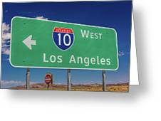 Interstate 10 Highway Signs Greeting Card