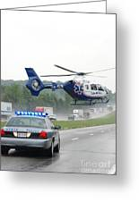 Interstate Rescue Greeting Card by Steven Townsend