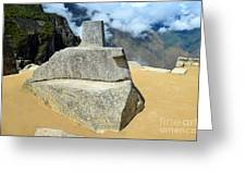 Inti Watana Stone Calendar At Machu Picchu Greeting Card