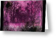 Into A Dark Pink Forest Greeting Card