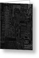 Into Nyc White On Black Greeting Card