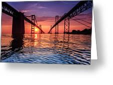 Into Sunrise 2 Greeting Card by Jennifer Casey