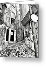 Into The Alley Greeting Card