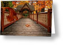 Into The Autumn Greeting Card
