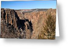 Into The Black Canyon Greeting Card