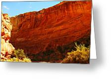 Into The Canyon Greeting Card