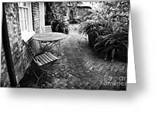 Into The Courtyard Greeting Card