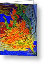 Into The Flames Of Hell Greeting Card