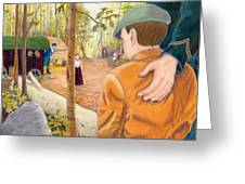 Into The Hidden Camp Greeting Card