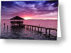 Into The Horizon Greeting Card