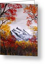 Into The Mountains Greeting Card