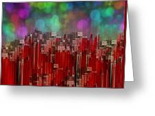 Into The Night Sky Greeting Card