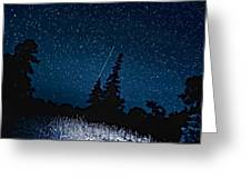 Into The Night Greeting Card