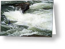 Into The Rapids Greeting Card