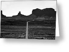 Into The Valley Of Monuments Greeting Card