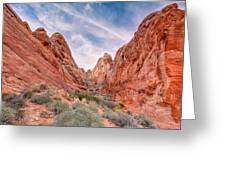 Into Valley Of Fire Greeting Card