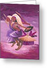 Intore Dance From Rwanda Greeting Card