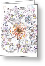Intracellular Diversion Greeting Card