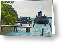 Intracoastal Ship Greeting Card