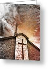 Intrepid Faith Greeting Card by Bill Tiepelman
