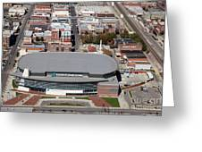 Intrust Bank Arena And Old Town Wichita Greeting Card