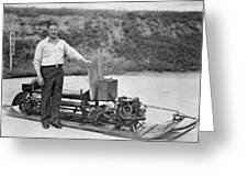 Inventor Of First Snowmobile Greeting Card