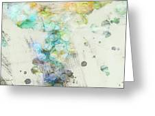 Inversion Abstract Art Greeting Card