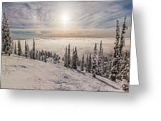 Inversion Sunset Greeting Card