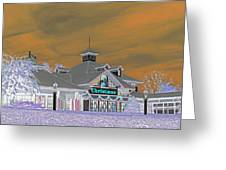 Invert Of The Apple Barn's Christmas Shop In Pigeon Forge Tennessee Greeting Card