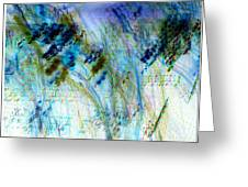 Inverted Light Abstraction Greeting Card