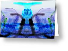 inverted Mirrored Symmetry And Electron Volcano Waves Photography Greeting Card