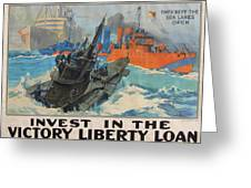 Invest In Victory Greeting Card