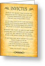 Invictus - Tribute To Nelson Mandela Greeting Card by Ginny Gaura