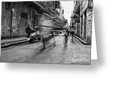 Invisible Rickshaw Puller Greeting Card
